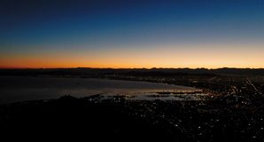 Cape Town at sunrise Royalty Free Stock Photo