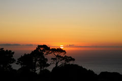 Cape Town Sunset royalty free stock photo