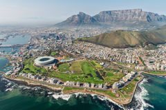 Cape Town, Sydafrika & x28; flyg- view& x29; Arkivfoton