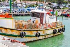 Cape Town Sydafrika, September 22, 2013, sväva för krabbafartyg royaltyfria foton