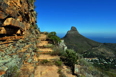 Cape Town tabell Mountain View Arkivbilder