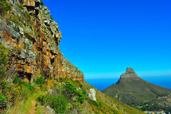 Cape Town tabell Mountain View Arkivfoto