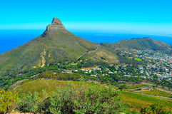 Cape Town tabell Mountain View Royaltyfria Bilder