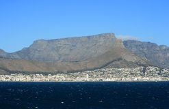 Cape Town and Table Mountain Royalty Free Stock Photography