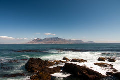 Cape Town table mountain. View of Cape Town tabel mountain, South Africa, Africa Stock Image