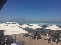Cape Town Table Mountain. View from Restaurant Stock Photography