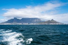 Cape Town and Table Mountain Royalty Free Stock Photos