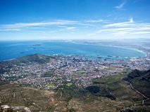 Cape Town from Table Mountain Royalty Free Stock Photo