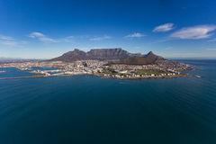 Cape Town-Tafelberg u. -stadt Stockfoto