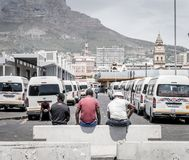 Cape Town taxi terminal Royalty Free Stock Photo