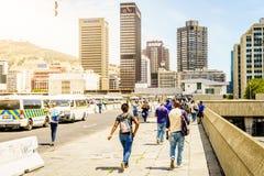 Cape Town taxi terminal Stock Photos
