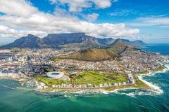 Cape Town und die 12 Apostels von oben Lizenzfreie Stockfotos