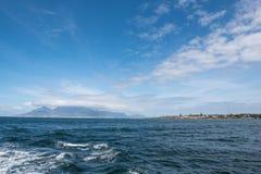 Cape Town und Robben-Insel Stockfotografie