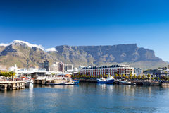 Cape town v&a waterfront. Cape town v&a waterfront and table mountain Royalty Free Stock Photo