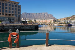 Cape Town, V&A Waterfront. South Africa, Cape Town, V&A Waterfront with Table Mountain in background Stock Images