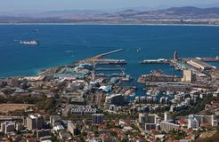 Cape Town, V&A Waterfront arial view. South Africa, Cape Town, aerial view over the V&A Waterfront Royalty Free Stock Photos