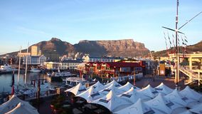 Cape Town from the Victoria and Alfred Waterfront stock video