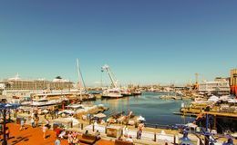 Cape Town - 2011: Victoria u. Alfred Waterfront stockfotografie