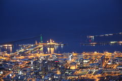 Cape Town vid natt Fotografering för Bildbyråer