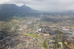 Cape Town view from helicopter  South Africa Stock Image