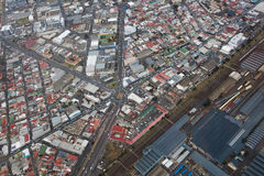 Cape Town view from helicopter  South Africa Stock Photo