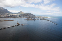 Cape Town view from helicopter  South Africa Stock Photography