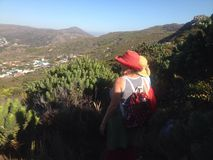 Cape Town walks. Admiring the view Stock Image