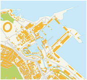 Cape town waterfront map Royalty Free Stock Photos