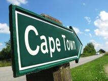 Cape Town-Wegweiser Stockbild