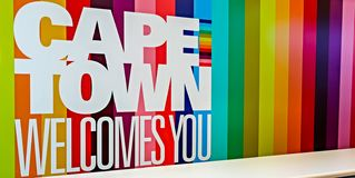 Cape Town - 2011: Welcome signboard stock image