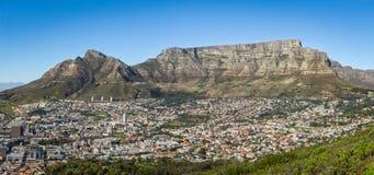 Cape Town y la montaña de la tabla Imagenes de archivo