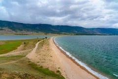 Cape Uyuga. Maloe More on Lake Baikal. Russia. View of Cape Uyuga. Maloe More on Lake Baikal in the morning. Russia Stock Images