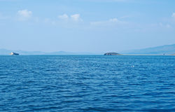 Cape Uyuga. Maloye more strait , lake Baikal, Siberia, Russia Royalty Free Stock Image