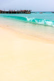 Cape Verde beach, Santa Maria Stock Photography