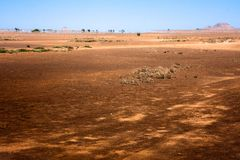 Cape Verde desert mirage Royalty Free Stock Image