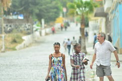 Cape Verde. Everyday life Cape Verde, island of Santiago Royalty Free Stock Photo