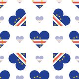 Cape Verde flag patriotic seamless pattern. Royalty Free Stock Photography