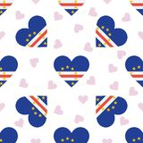 Cape Verde independence day seamless pattern. Royalty Free Stock Photography
