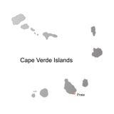 Cape verde islands vector map stock images