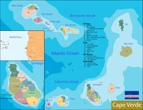 Cape Verde map Royalty Free Stock Images