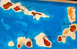 Cape Verde MAP Stock Image