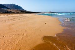 Cape Verde Praia Grande wild beach Stock Photos