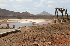Cape Verde salines on the island of Sal stock images