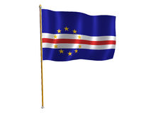 Cape Verde silk flag Royalty Free Stock Photo