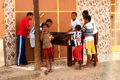 Cape Verdean children Stock Images