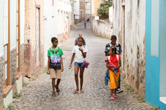 Cape Verdean children Stock Image