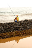Cape Verdean fisherman Stock Photography