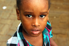 Cape Verdean little girl Royalty Free Stock Photo