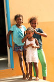 Cape Verdean little girls Royalty Free Stock Image