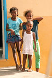 Cape Verdean little girls Royalty Free Stock Photos